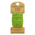 Lime Green Hemp 20 lb Crafters Cord - Hemptique