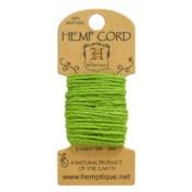 Lime Green Hemp 20 lb Crafters Cord - Hemptique