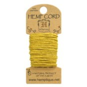 Yellow Hemp 20 lb Crafters Cord - Hemptique