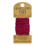 Dark Pink Hemp 20 lb Crafters Cord - Hemptique