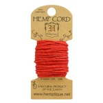 Red Hemp 20 lb Crafters Cord - Hemptique