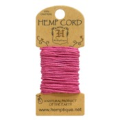 Bright Pink Hemp 20 lb Crafters Cord - Hemptique