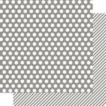 Snap Grey Dot/Stripe Paper - Color Vibe - Simple Stories