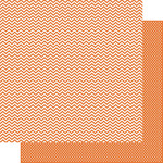 Snap Orange Chevron/Mini Dot Paper - Color Vibe - Simple Stories
