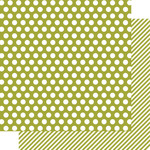 Snap Green Dot/Stripe Paper - Color Vibe - Simple Stories