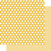 Snap Yellow Dot/Stripe Paper - Color Vibe - Simple Stories