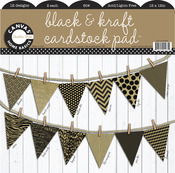 Black & Kraft 12x12 Cardstock Pad - Canvas Corp