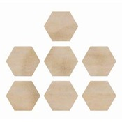 Hexagons Wood Flourishes - Kaiser Craft