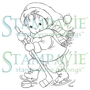 Henry Playing Hockey Clear Stamp - Tina Wenke - Stampavie