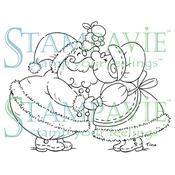 Santa & Mrs Clause Clear Stamp - Tina Wenke - Stampavie