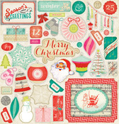 Sleigh Ride Embossed Accents - Crate Paper