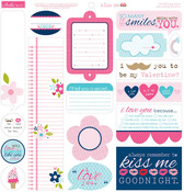 Kiss Me Just Write Journal Stickers - Bella Blvd