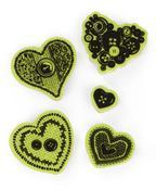 Sewing Hearts Cling Stamps - Inkadinkado