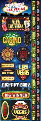 Las Vegas Cardstock Stickers - Reminisce