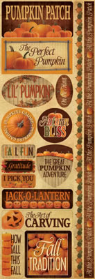 Pumpkin Patch Cardstock Stickers - Reminisce