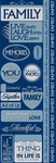 Our Family Cardstock Stickers - Reminisce