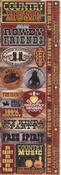 Country Music Cardstock Stickers - Reminisce
