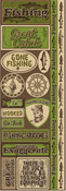 Fishing Cardstock Stickers - Reminisce