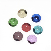 Multi Color 10mm Round Cup Sequins - Darice