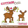 Merry Moose - mas 4x4 Metal Die - Cottage Cutz