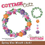 Spring Vine Wreath 4 x 4 Metal Die - Cottage Cutz