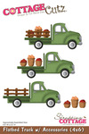 Flatbed Truck w/Accessories 4x6 Metal Die - Cottage Cutz