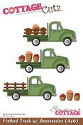 Flatbed Truck w/Accessories 4x6 Metal Die - Cottage Cutz