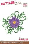 Flourish Layered Flower 4x6 Metal Die - Cottage Cutz