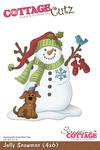 Jolly Snowman 4x6 Metal Die - Cottage Cutz