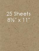 Kraft 8.5 x 11 - 25pk Bazzill Cardstock