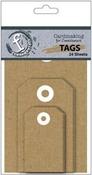 Cardmaking Kraft Tags - Ruby Rock - it