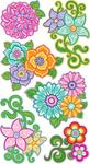 Flourishy Flower Sticko Stickers