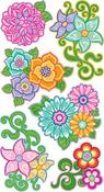Flourishy Flower Sticko Stickers
