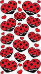 Love Bug Hearts Epoxy Foil Stickers