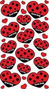 Love Bug Hearts Epoxy Foil Stickers