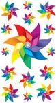 Pinwheels Glitter Epoxy Foil Stickers