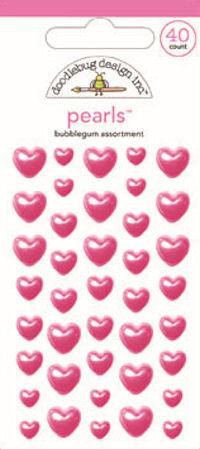 Bubblegum Assortment Heart Pearls - Doodlebug