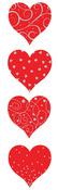 Red & Silver Heart Stickers - Mrs. Grossmans