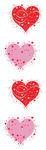 Fancy Heart Stickers - Mrs. Grossmans