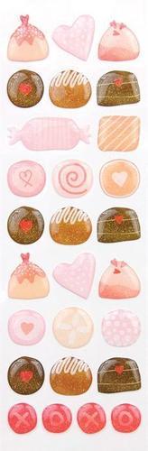 Handmade Valentine Bon Bon Stickers - Martha Stewart Crafts