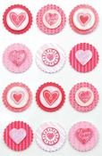 Handmade Valentine Round Icon Stickers - Martha Stewart Crafts
