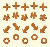 Dark Orange Metallic Gem Arrow Adhesives