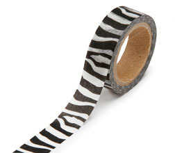 Zebra Black/White Washi Tape - Darice