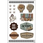 Man On The Move Stickers - Adrenalin - FabScraps