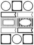 Black & White Labels By The Dozen - SRM Press