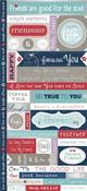 Fresh Verse Cardstock Stickers - Just Because
