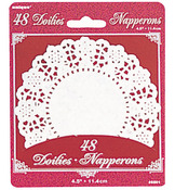 "White 4.5"" Paper Doilies"