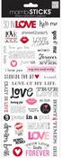 Love Kiss Me Stickers - Me & My Big Ideas