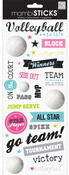 Volleyball On Court Stickers - Me & My Big Ideas