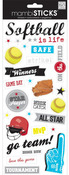 Softball Game Day Stickers - Me & My Big Ideas